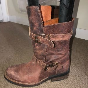 Steve Madden tan/brown leather boots
